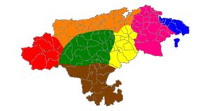 Cantabrian dialect - Image: Mapa dialectal de Cantabria