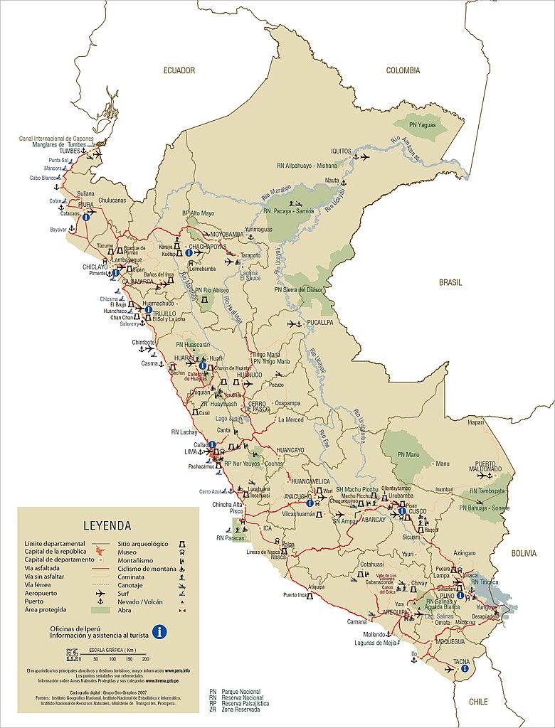 File Mapa Turismo Peru Jpg Wikimedia Commons
