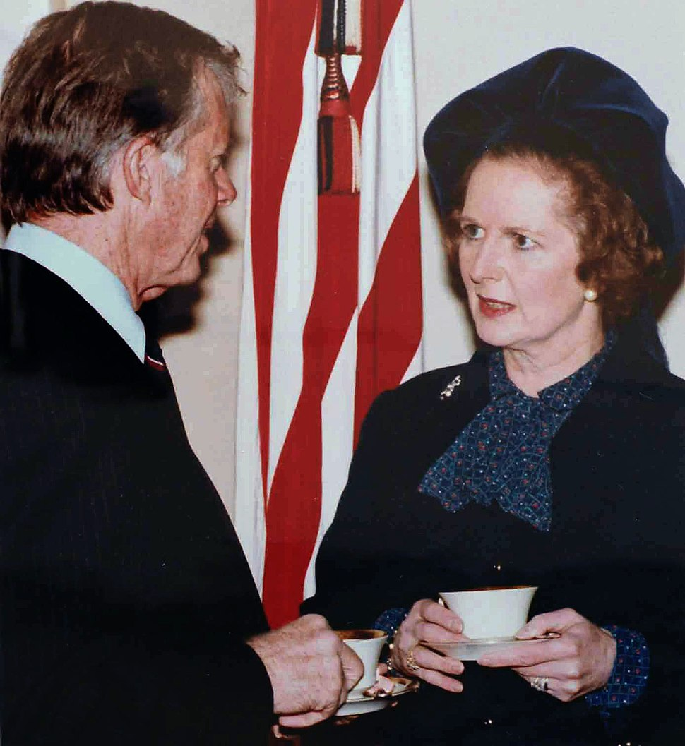 Margaret Thatcher visiting Jimmy Carter