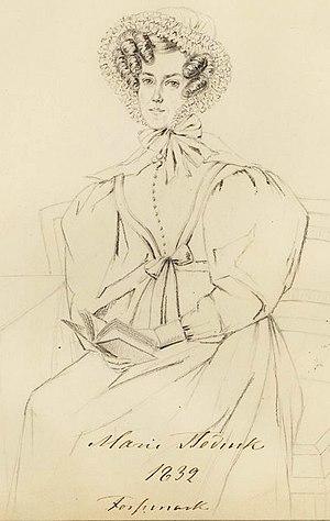 Marie von Stedingk - Maria Fredrica von Stedingk. Drawing by Maria Röhl (1832).