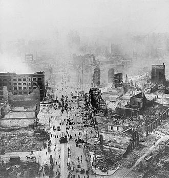 1900s (decade) - Ruins from the 1906 San Francisco earthquake, remembered as one of the worst natural disasters in United States history