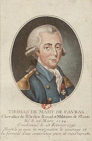 Thomas de Mahy, marquis de Favras - Thomas de Mahy