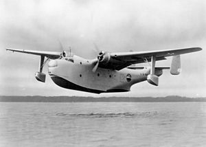 Martin PBM Mariner - The XPBM-1 showing the original retractable floats.