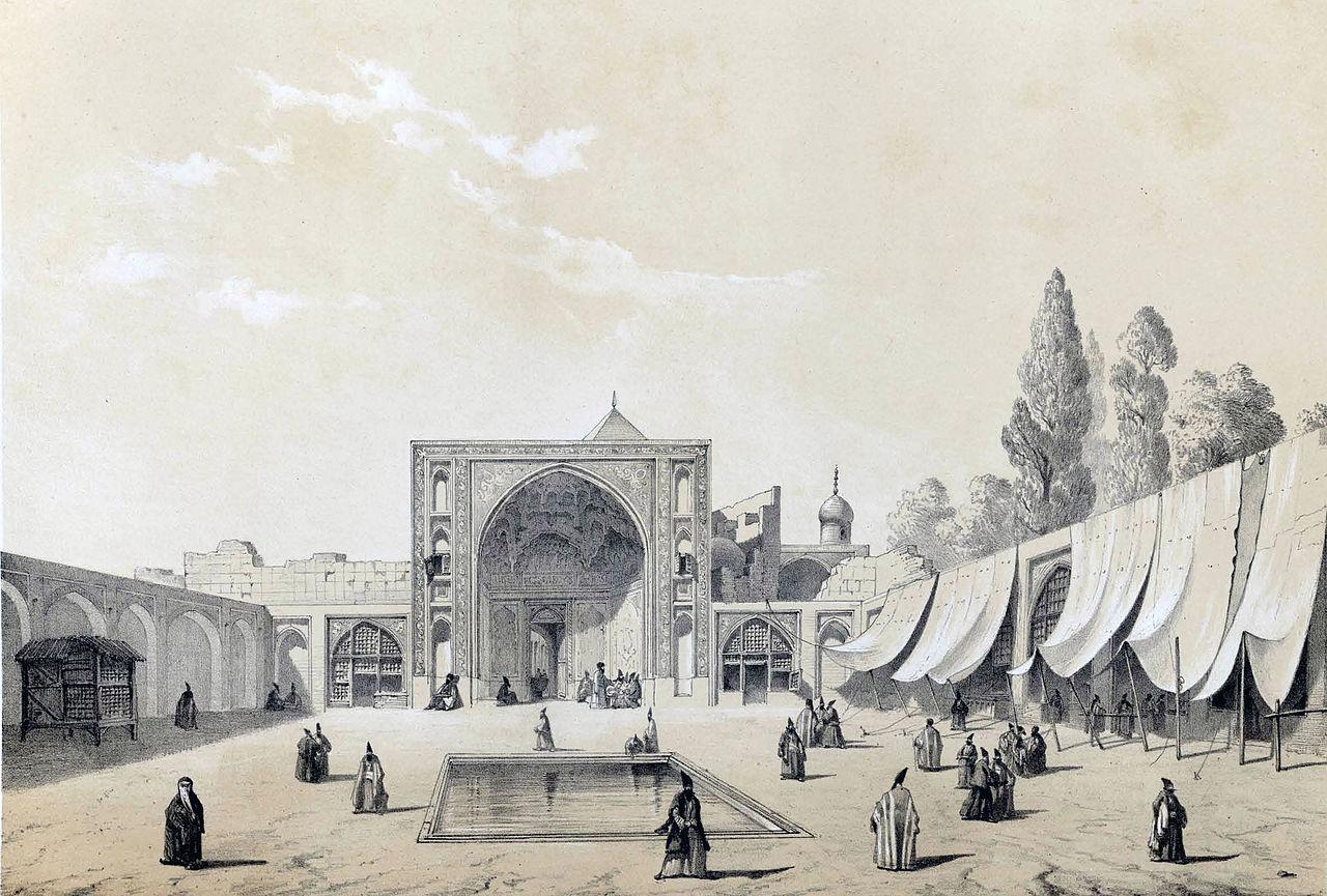 Масджид и Шах Тегеран, автор: Эжен Фландин.jpg