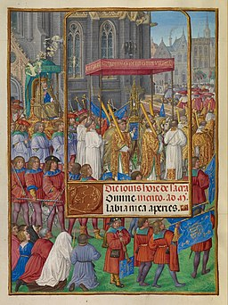Master of James IV of Scotland (Flemish, before 1465 - about 1541) - Procession for Corpus Christi - Google Art Project