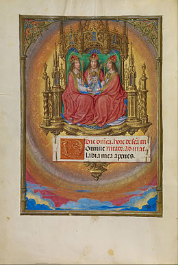 Master of James IV of Scotland (Flemish, before 1465 - about 1541) - The Holy Trinity Enthroned - Google Art Project.jpg