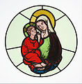Master of Klosterneuburg (Austrian, active early 14th century) - The Virgin and Child - Google Art Project.jpg