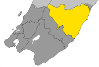 Location of Masterton District in Wellington Region