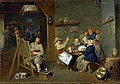 Mattheus van Helmont - Self-portrait of an artist among a merry, drinking company of peasants in a tavern.jpg