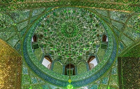 Dome of Mausoleum of Emir Ali, Shiraz, Iran.