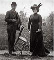 Max Klinger und Elsa Asanjieff, Villa Romana 1905.jpg