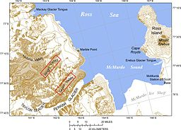 none  Kart over McMurdo Sound og Dry Valleys