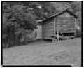 Meat shed, northeast corner - Trump-Lilly Farm, Hinton, Summers County, WV HABS WVA,45-HINT.V,1-18.tif