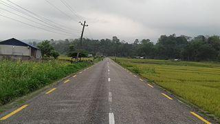 Mechi Highway road in Nepal