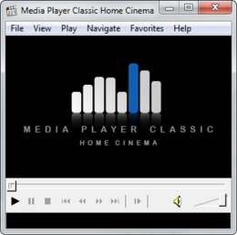 Screenshot des Hauptfensters von Media Player Classic - Home Cinema