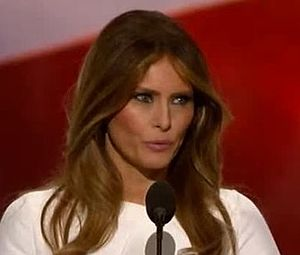 2016 Republican National Convention - Melania Trump, wife of Donald Trump, speaking on the first night