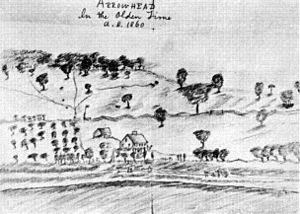 Arrowhead (Herman Melville House) - Sketch of Arrowhead estate by Melville, c. 1860