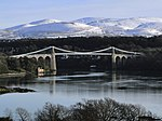 Menai- und Conwy-Brücke