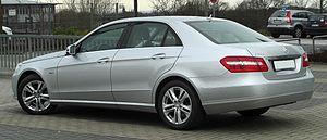 Mercedes-Benz E-Class (W212) - The design for the 2010 E-Class was more angular and aggressive than its predecessors.