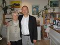 Merete Engel og forlagsdirektør Michael Haase 2008.JPG