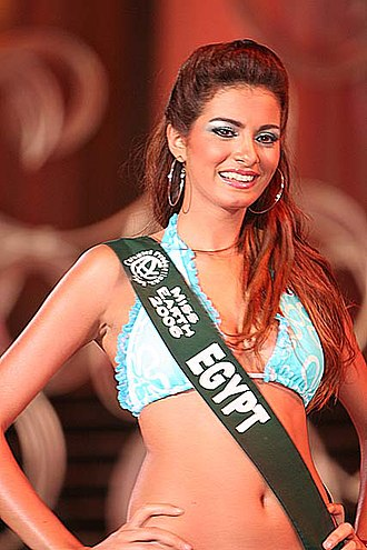 Miss Egypt - Miss Egypt 2005, Meriam George at Miss Earth 2006, Top 8 finalist, in Angeles City, Philippines.