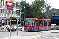 Metroline bus at Potters Bar railway station, 11 July 2009.jpg
