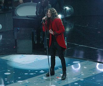 Poland in the Eurovision Song Contest 2016 - Michał Szpak performing during a rehearsal for Krajowe Eliminacje 2016