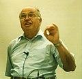 Michael Atiyah at a 1996 Chern symposium (portion B, 1300 dpi).jpg