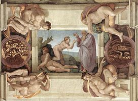 Michelangelo, Creation of Eve 00.jpg