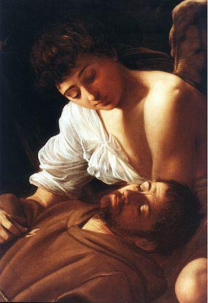 Saint Francis of Assisi in Ecstasy (Caravaggio) - Saint Francis of Assisi in Ecstasy (detail).