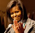 Michelle Obama at Women in Military Service for America Memorial Center 3-3-09 1 (cropped1).jpg