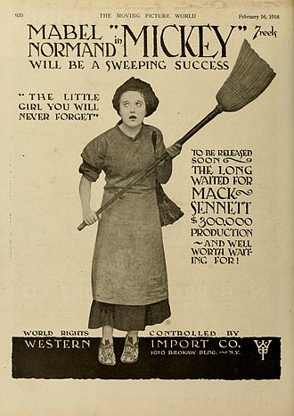 Mickey (1918 film) - 1918 magazine ad