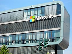 A Microsoft building in Europe