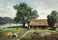 Mikhail Konstantinovich Klodt - Riverside Farmstead, 1858.jpg