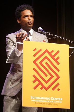 Miles Marshall Lewis - Lewis lecturing at the Schomburg Center for Research in Black Culture, 2013.