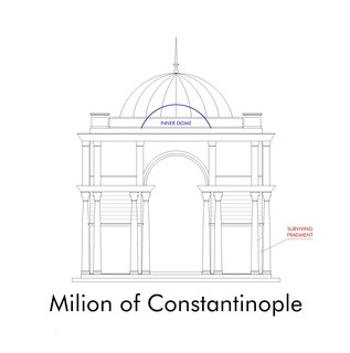 Milion Byzantine mile-marker monument in Constantinople
