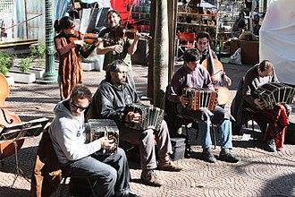 Milonga (music) - Milonga group in Buenos Aires