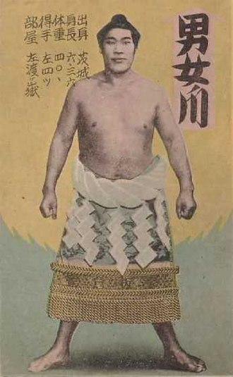 Bun (hairstyle) - Sumo wrestler with topknot