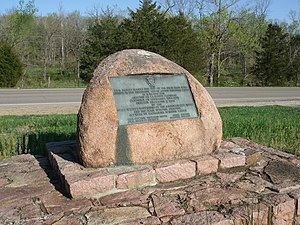 Antoine de la Mothe Cadillac - A historical marker that reads: This tablet marks the site of the first lead mine opened in the Mississippi Valley about the year 1700. It is named for Antoine De LaMotte Cadillac, governor of Louisiana 1710–1717.