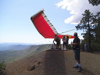 Mingus Mountain - Image: Mingus Hang Glider