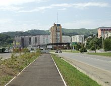 Mira Avenue in Nakhodka.JPG