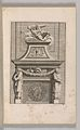 Miscellany of 17th-century Ornament Print Series- Examples of Antique Chimneypieces, Cabinets, Gueridons, Tables and Mirrors, in addition to Italian Church Facades, by illustrious architects, or a sequel to S. Bosboom MET DP-12235-068.jpg