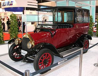 Automotive industry in Japan - The Mitsubishi Model A was produced in 1917