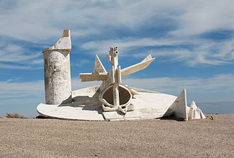 Igael Tumarkin - Monument in the Moav Outlook in Arad, Israel