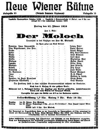 Leo Birinski - Image: Moloch 1910 poster