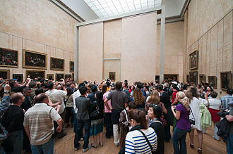 Art world - Leonardo da Vinci's Mona Lisa is the most popular attraction of the Louvre