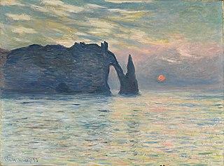 The Cliff, Étretat, Sunset