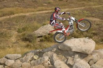 Motorcycle sport - Trials commonly take place on rocky terrain