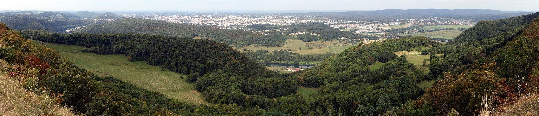 Panorama de Montfaucon (Doubs).