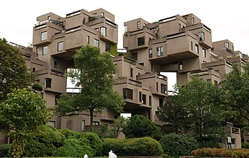 Captivating Habitat 67, As Seen From Street Level.